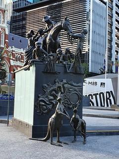 The Petrie sculpture tableau - King George Sq