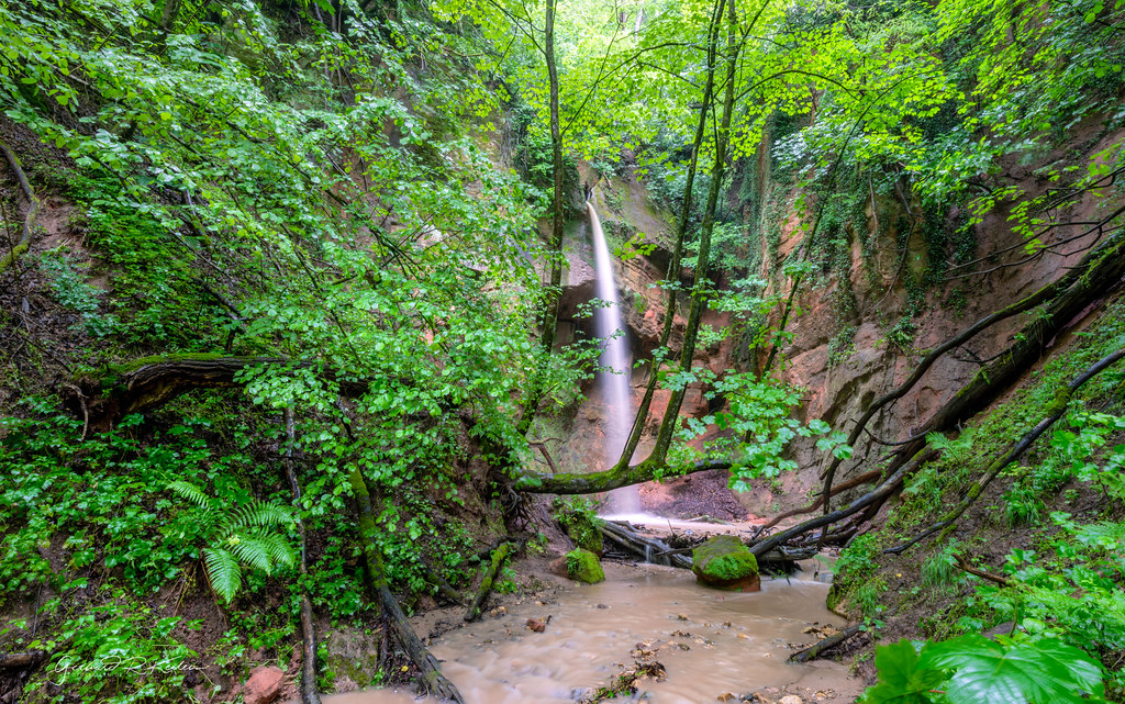 The Gillenbach waterfall near Trier
