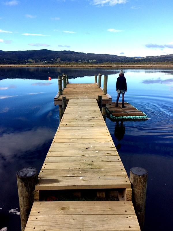 New jetty. Zoe. Huon River. Yesterday.