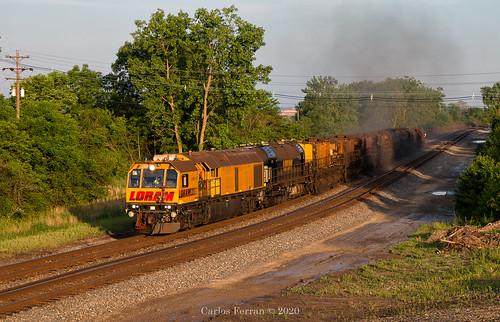 ns norfolk southern loram rail grinder maintenance way train trains cw cabin sandusky district sunrise railroad rails columbus oh ohio