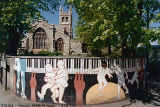 Church & Mural, Angell Rd, Angell Park Gdns, Angell Town, 1989 TQ3176-008