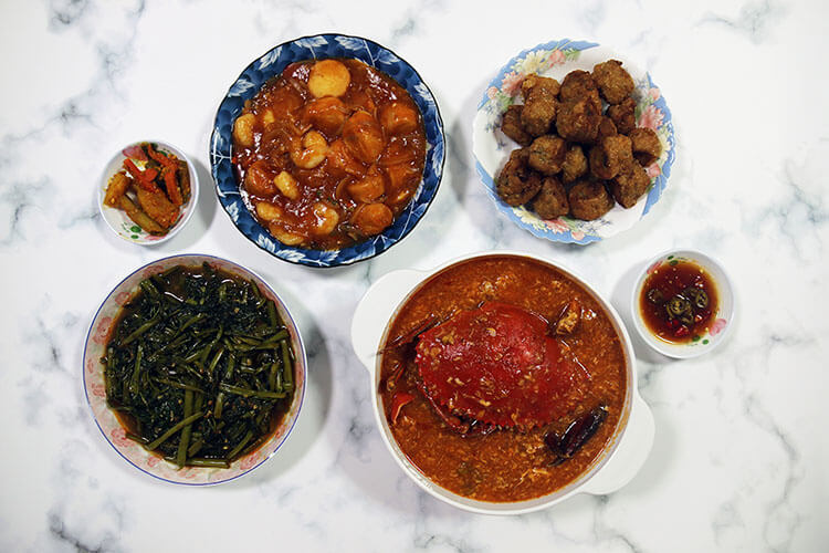 fantastic zi char meal from 8 crabs singapore
