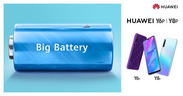 Huawei Y6p y Y8p