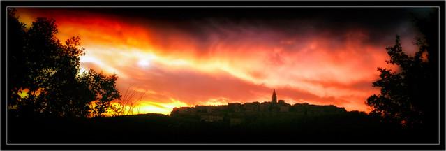 Sunset on Puycelsi
