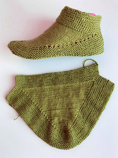 Knit Booties in 15 minutes