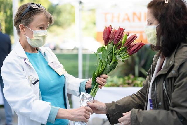 Flowers at the Laguna Honda Hospital