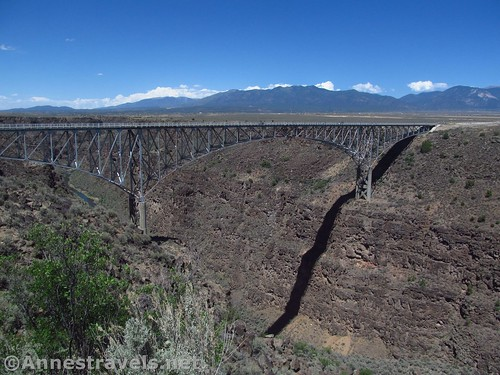 The Rio Grande Gorge Bridge as seen from the viewpoint near the rest area, Rio Grande del Norte National Monument, New Mexico