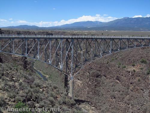 The west pier of the Rio Grande Gorge Bridge, Rio Grande del Norte National Monument, New Mexico