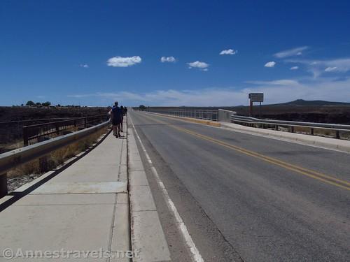 Walking onto the Rio Grande Gorge Bridge, Rio Grande del Norte National Monument, Arizona