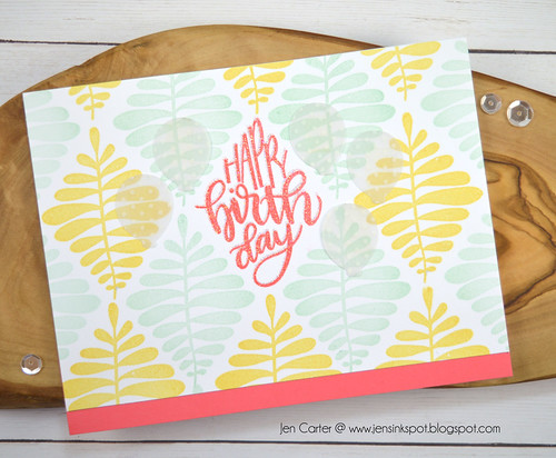 Jen Carter Say it in Diamonds Yellow Mint Coral Birthday 1