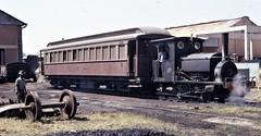 Africa Railways - Angola - Caminho de Ferro de Benguela (Benguela Railway) - CFB 0-4-0T steam locomotive Nr. 2A at Nova Lisboa in September 1973