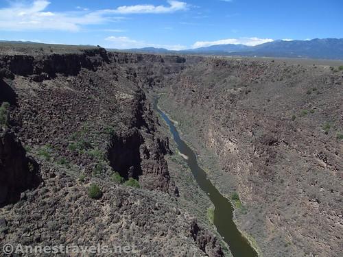 Looking north from the Rio Grande Gorge Bridge, Rio Grande del Norte National Monument, New Mexico