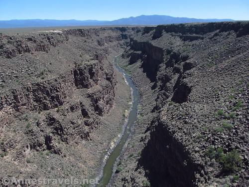 Views south from the Rio Grande Gorge Bridge, Rio Grande del Norte National Monument, New Mexico
