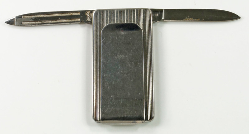 RD29082 Vintage Ford Trucks Gas Diesel Imperial Stainless Pocket Knife Money Clip DSC07637