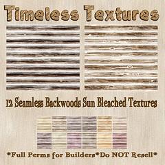 TT 12 Seamless Backwoods Sun Bleached Timeless Textures