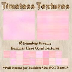 TT 18 Seamless Dreamy Summer Haze Coral Timeless Textures