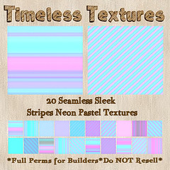 TT 20 Seamless Sleek Stripes Neon Pastel Timeless Textures