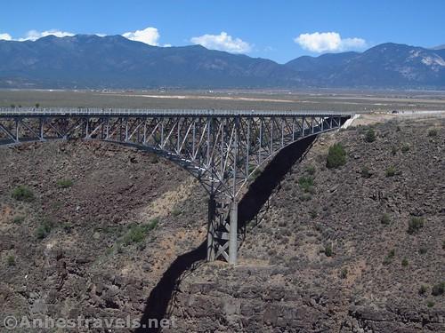 The eastern pier of the Rio Grande Gorge Bridge, Rio Grande del Norte National Monument, New Mexico