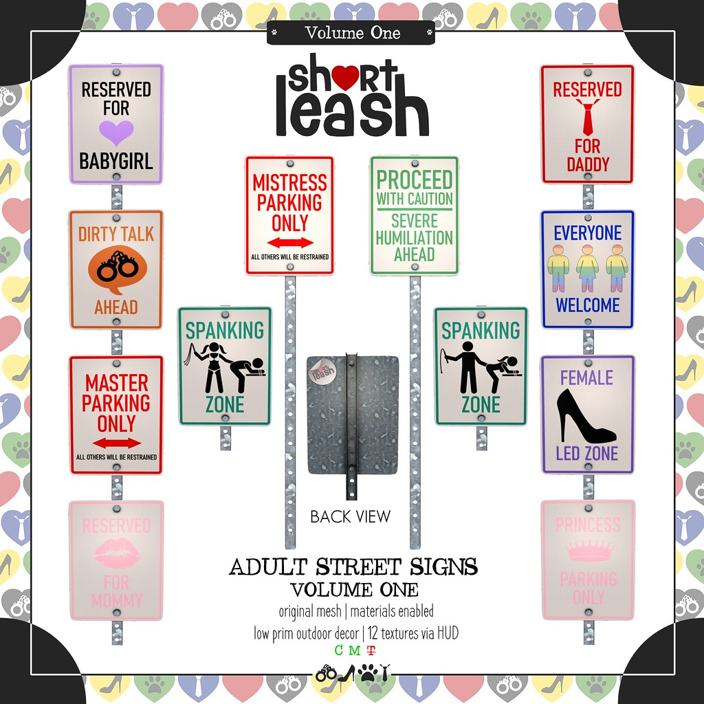 .:Short Leash:. Adult Street Signs Vol 1