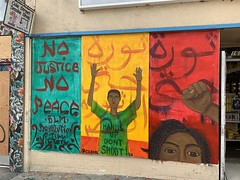 """No Justice, No Peace"" On Haight Street at Cole, Haight District"