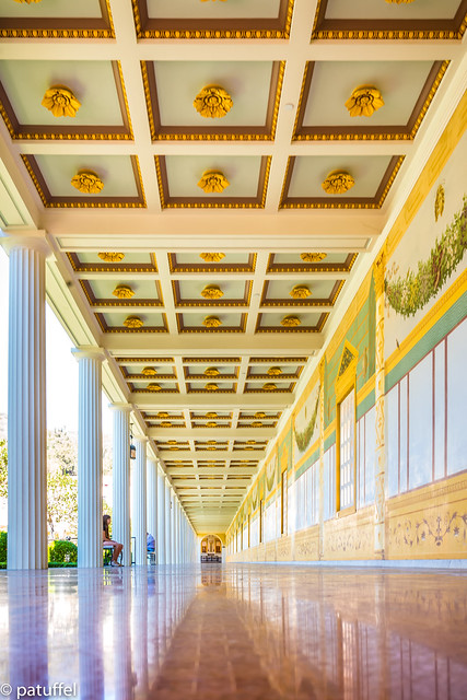 Hallway at the Getty Villa