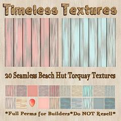 TT 20 Seamless Beach Hut Torquay Timeless Textures