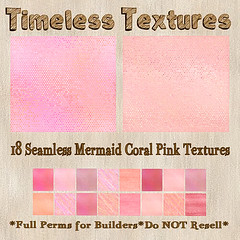 TT 18 Seamless Mermaid Coral Pink Timeless Textures
