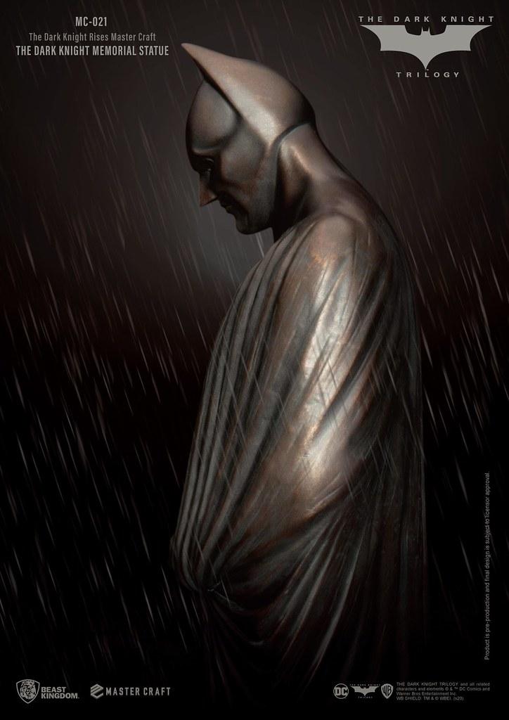 紀念那位捨身守護高譚的英雄! 野獸國 Master Craft 系列《黑暗騎士:黎明昇起》黑暗騎士紀念雕像 (The Dark Knight Memorial Statue) MC-021