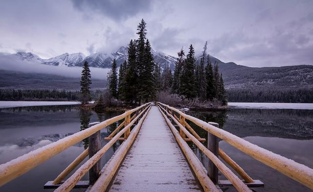 Frosty Mornings at Pyramid Lake, Banff National Park