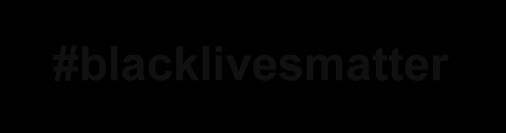 A black rectangle with the hashtag #blacklivesmatter
