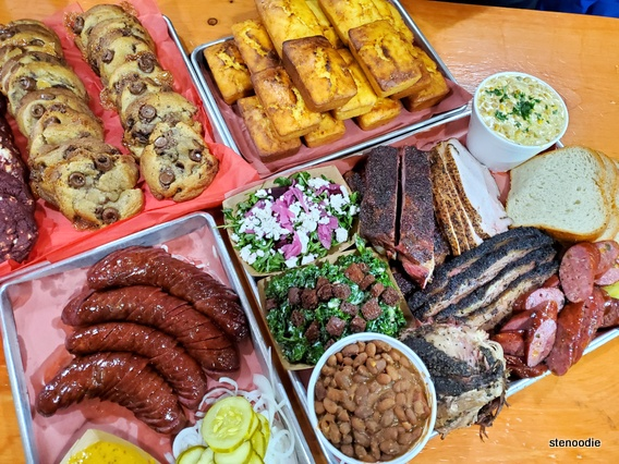 Adamson Barbecue food spread