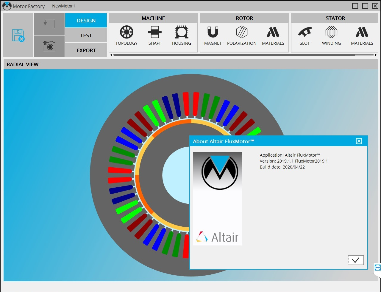 Working with Altair FluxMotor 2019.1.1 HotFix full license