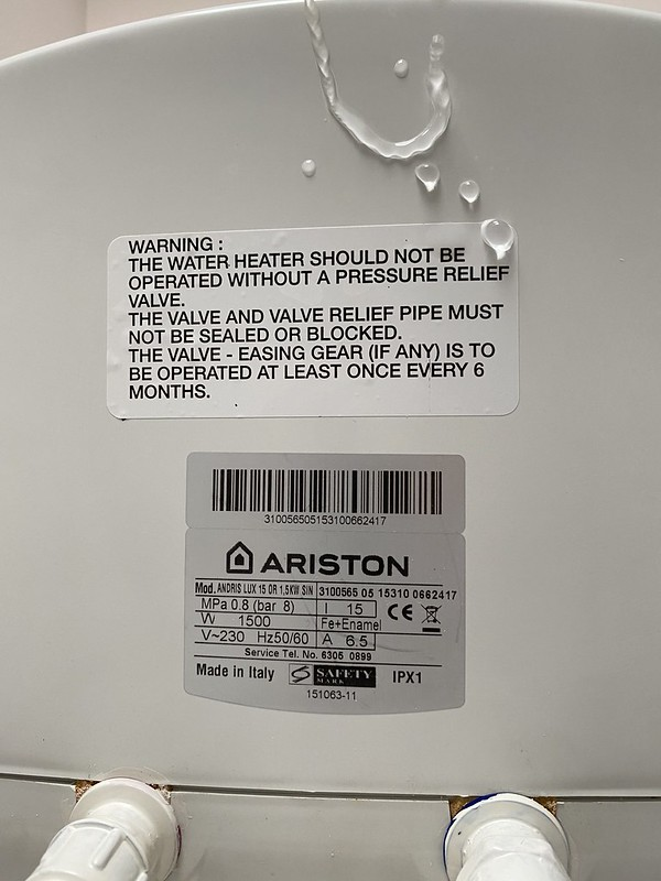 Ariston Andris Lux Storage Water Heater - Bottom