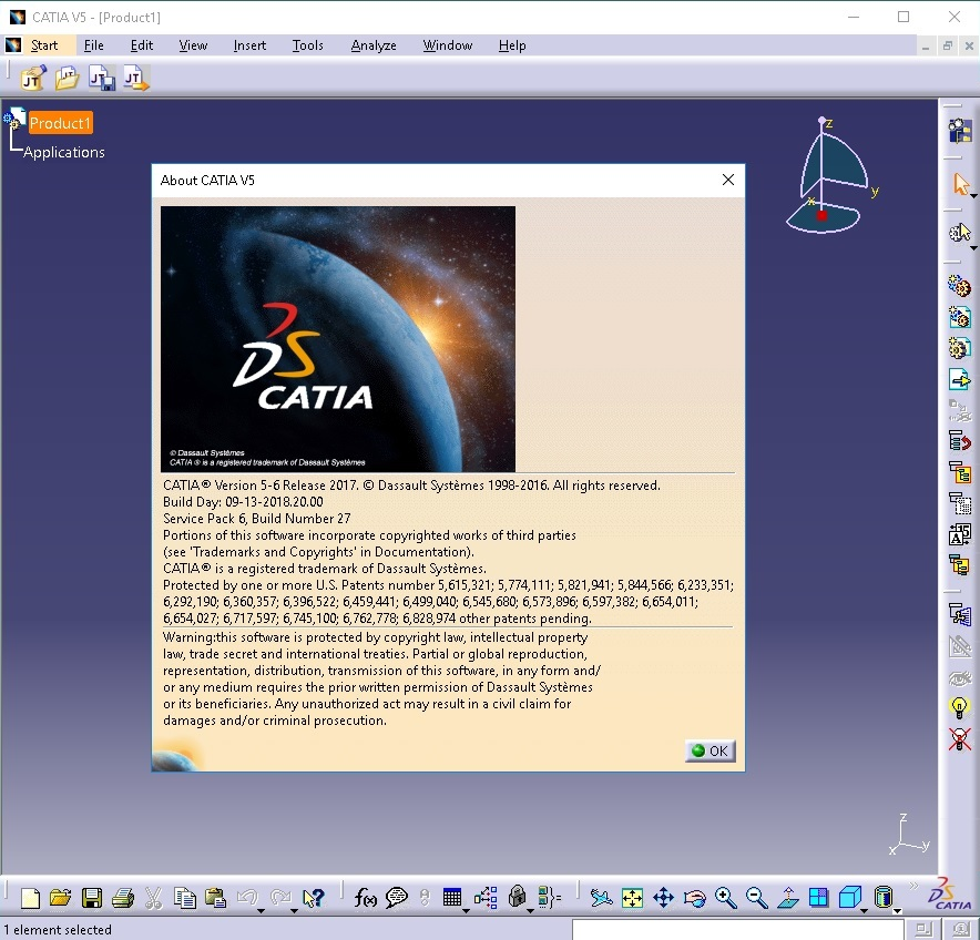 Working with DS CATIA P3 V5-6R2017 GA SP6 full license