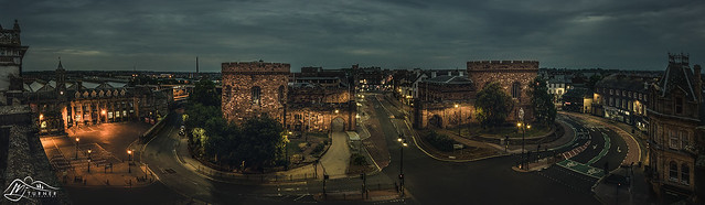 Carlisle Citadel, Station & The Crescent from The Griffin