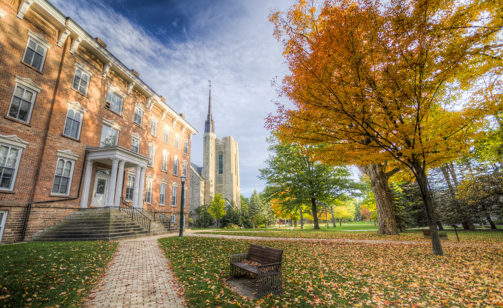 Richardson and the Chapel in Fall