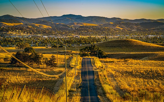East-West View of Petaluma to Marin County