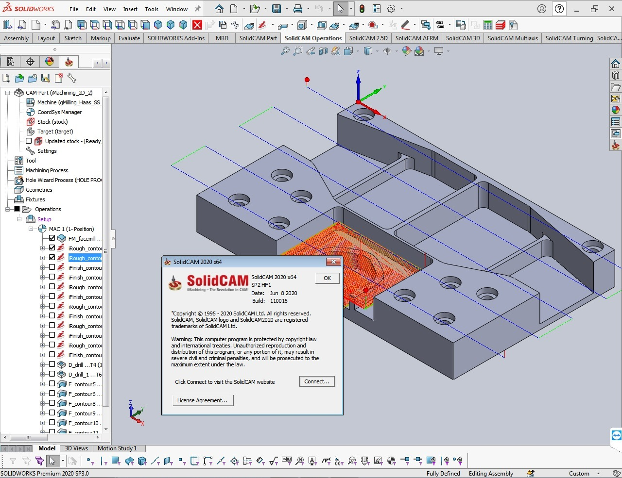 Working with SolidCAM 2020 SP2 HF1 for SolidWorks 2012-2020 x64 full
