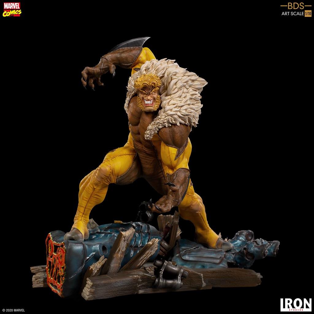 邪氣滿點的嗜血神情超級帥! Iron Studios Battle Diorama 系列 Marvel Comics【劍齒虎】Sabretooth 1/10 比例全身雕像