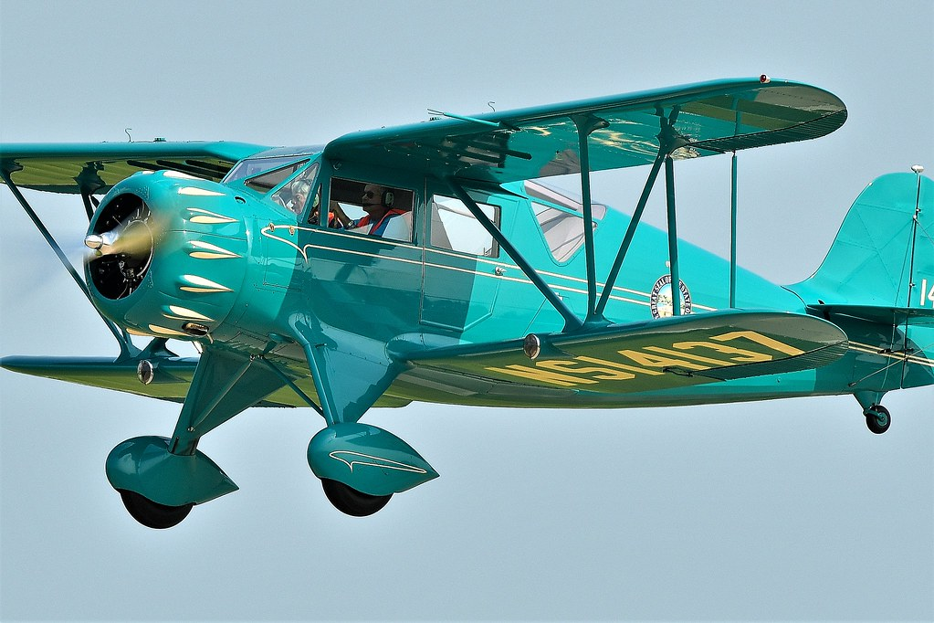 1934 Waco YKC  NS14137 / N14137 briefly used  as A Military reconnaissance aircraft during WWII