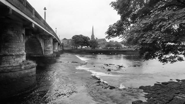 Dumbarton Bridge and the River Leven at Low Tide
