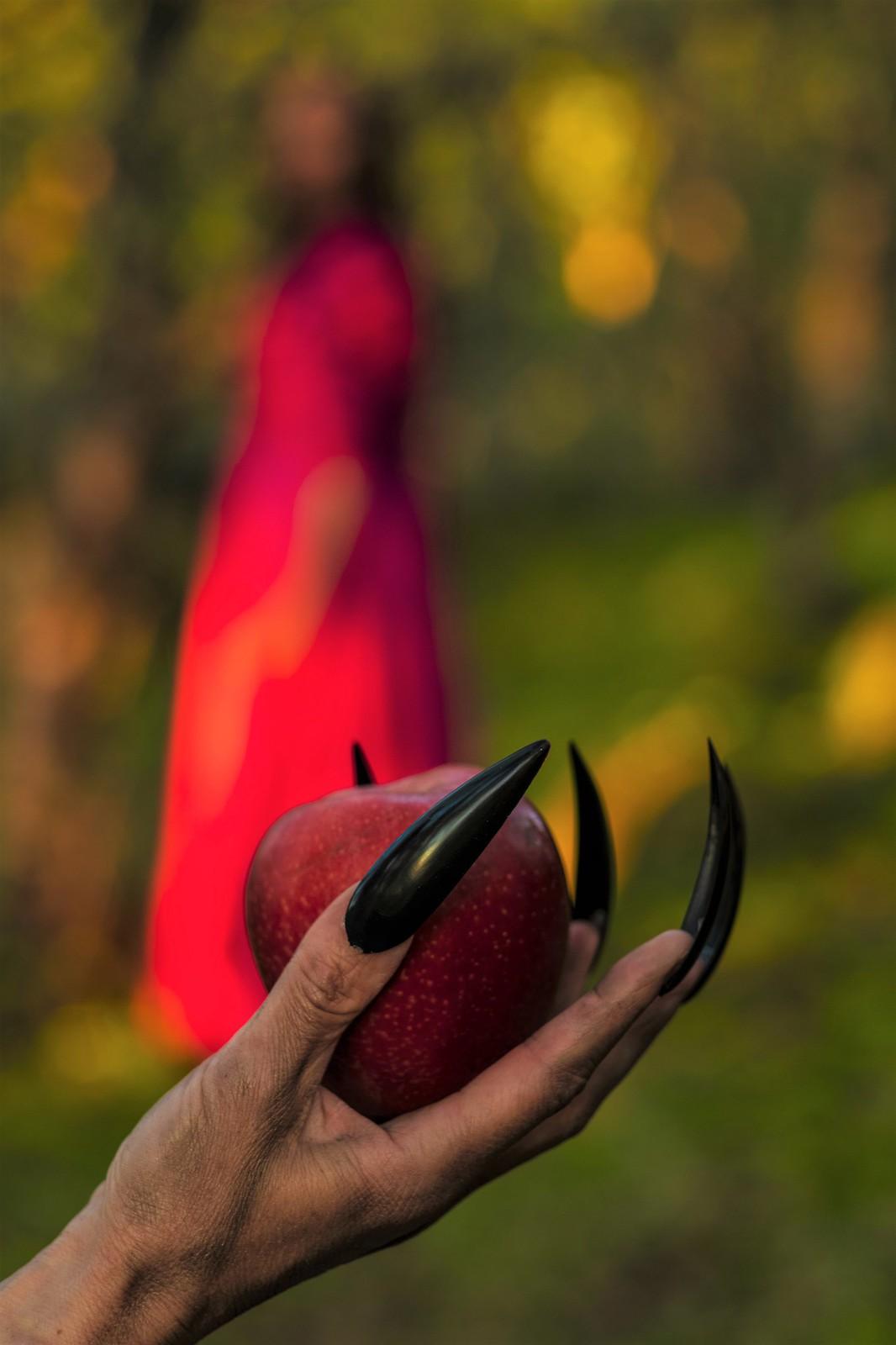 Vil du ha et eple snøhvit? Do you want an apple snow white?