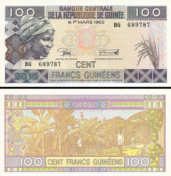 100 Frankov Guinea 2015, P47A