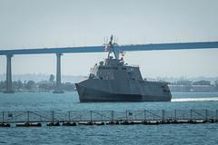 USS Montgomery (LCS 8) transits San Diego Bay, June 10. (U.S Navy/MC3 Alex Corona)