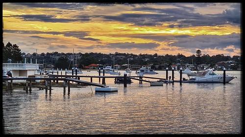 water river georgesriver tarenpoint sylvaniawaters sylvania southernsydney dusk sunset