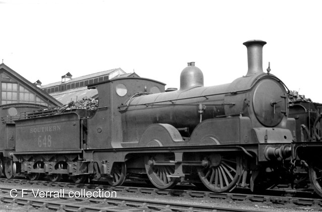 LSWR A12 class 648 at Eastleigh 1935