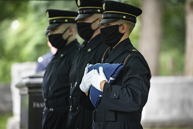 Modified Military Funeral Honors are Conducted for U.S. Army Air Forces 1st Lt. Cicero Sprinkle Jr.