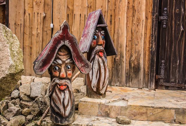 Wooden sculptures in Poland