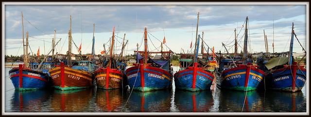 Le port de Dong Hoi au centre du Vietnam.