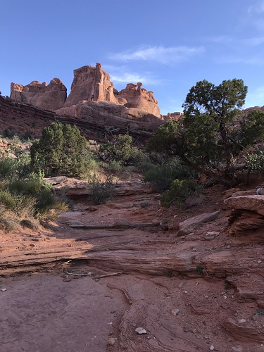 Park Avenue Trail Landscape. From History Comes Alive on Moab's Hiking Trails
